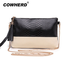 Hot 100% genuine leather womens shoulder bags clutch ladies Mini chain bag female crocodile pattern designer messenger bag(China)