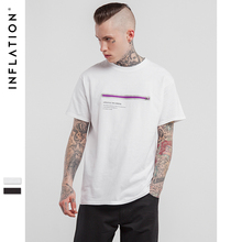 INFLATION 2017 Latest t shirts Zipper Printed Classic T-Shirts  Hip Hop Clothing Urban Fashion Clothing For Men
