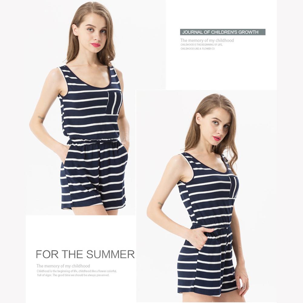 Siskakia mody młodzieżowej Letnie nastolatek dziewczyny Playsuit Przebrania paski patchwork slim fit krótkie elegancki 100% bawełna odzież różowy 8