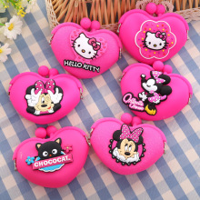 Mini Cattoon Mouse Coin Purse Cat Cute Female Children's Wallet Bags For Girls Kid Gift Bolsa Feminina(China)
