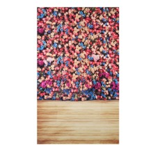3x5ft Rose Flower Backdrop Studio Photo Photography Vinyl Wood Floor Background