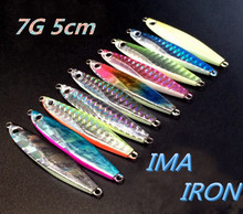 Jigging Metal Spoon Fishing Lure 7g 50mm Shore Cast Iron Isca Artificial Jig Spinner Bait - Yewo Tackle.,Ltd store
