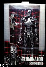 "Free Shipping NECA Terminator 2 Judgment Day T-800 Endoskeleton PVC Action Figure Robot Toys 7"" 18CM(China)"