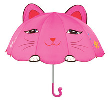 Free shipping fairy cartoon kids umbrella, children Pink Marie Cat cats rain umbrellas, funny birthday gift for child(China)