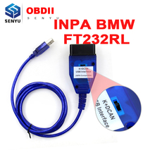 For BMW INPA K+CAN FTDI FT232RL Chip with Switch For BMW Scanner Inpa k dcan USB Cable OBD OBD2 Diagnostic Interface(China)