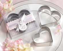 Stainless Material  Cookie Cutters Novelty Wedding Bridal Shower Party Gift Valentine's Day Favors Children Kids Present