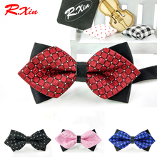 2016 HOT Formal Adult Mens Kids Bow tie solid color Children Accessories Butterfly Cravat Bowtie Butterflies Bow ties For Boy(China)