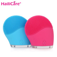 Hailicare Electric Face Cleanser Vibrate Pore Clean Silicone Cleansing Brush Massager Facial Vibration Skin Care Spa Massage(China)