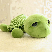 Fashion Soft Very Cute 20cm Super Green Big Eyes Stuffed Tortoise Turtle Animal Plush Baby Toy Gift For Kids Baby Children
