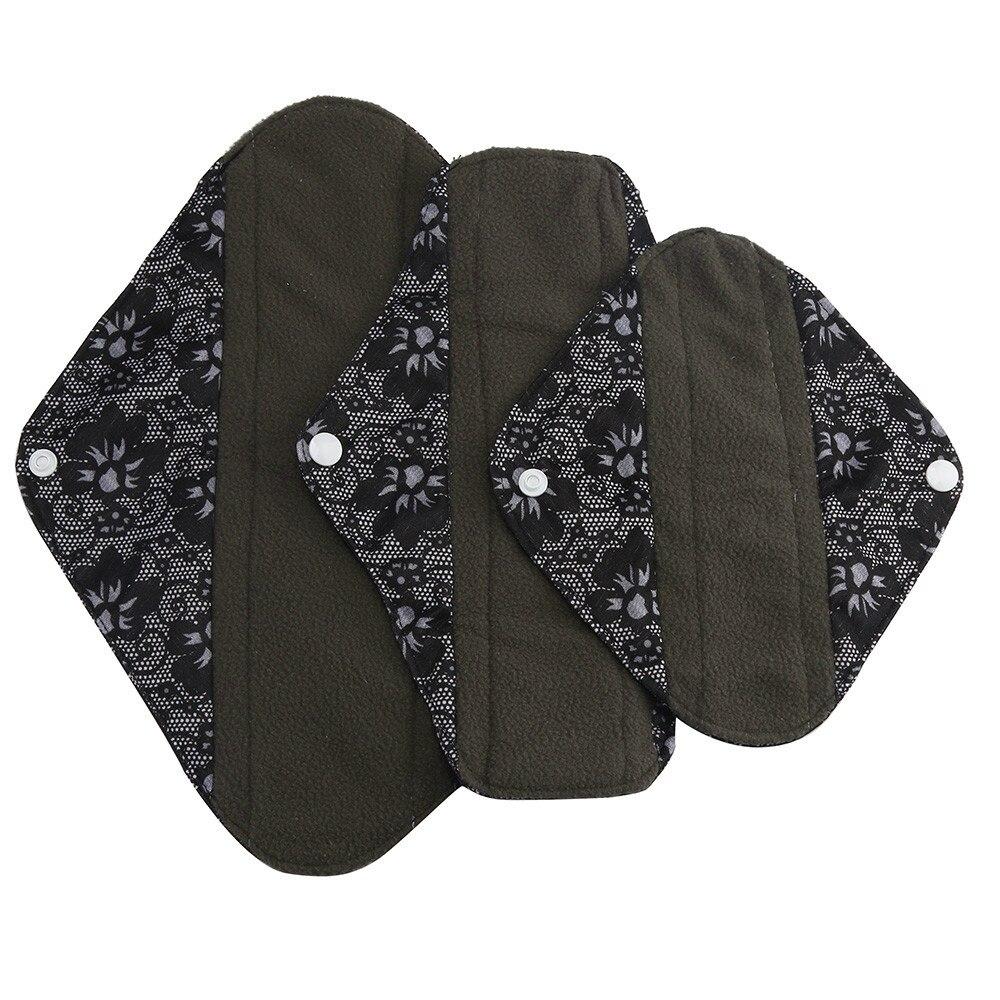 1pc New Arrival Women's Reusable Bamboo Cloth Washable Menstrual Pad Mama Sanitary Towel Pad Pretty Feminine Hygiene Product 24