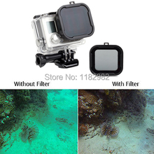 camcorder Gopro Diving Filter UV lens filter  accessories polarizer  color underwater diving for Go Pro hero 3+ 4 mini