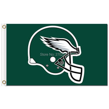 Philadelphia Eagles Helmet Flag Green World Series 2016 3ft X 5ft Football Flag Helmet Philadelphia Eagles Banner(China)