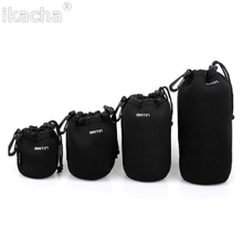 Promotion Brand New 4pcs/lot Matin Neoprene Waterproof Soft Camera Lens Pouch Bag Case 4 Pcs Size XL L M S For Canon Nikon Sony(China)