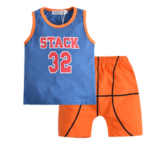2017 Summer Children Kids clothes Sports wear sets sleeveless T-shirt + pants 2pcs sets Boys outfits kids sportswear for 1-5T(China)