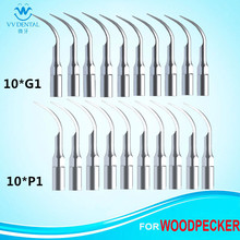 20Pcs/lot Ultrasonic Dental Scaler Tips G1 P1 Teeth Cleaning Dental Equipment Tools For Dentistry(China)