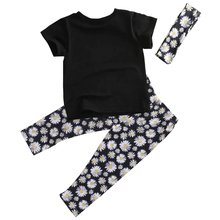 ABWE Best Sale 3pcs Kids Toddler Baby Girls Tops+Pant+Headband Outfits Costume Clothes , black , 1-2 Years