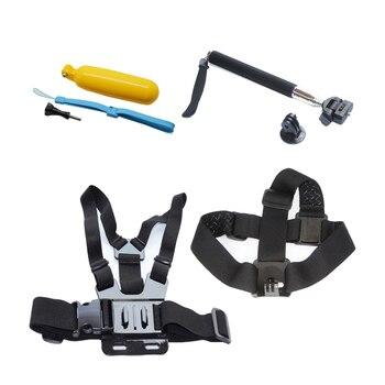 Se divierte la cámara accessores soocoo kit para gopro soocoo c50/c30/c30r/c10s/s70/s60/s60b/c10/s33ws gopro hero hero4 sj4000