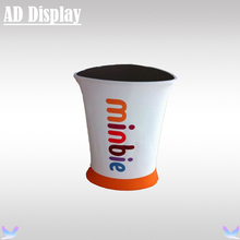 Portable Exhibition Booth Triangular Promotion Table Display,Tradeshow Advertising Podium Counter With Tension Fabric Banner