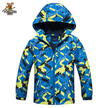 Boys Autumn Jackets 2017 Children Hooded Windproof Coat Boy Fashion Sports Soft Cashmere Polar Fleece Jacket For 3-12 years(China)