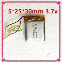 3.7V 502530 300 mah lithium-ion polymer battery quality goods quality of CE FCC ROHS certification authority