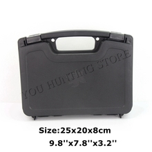 High Quality Hunting Airsoft ABS Tactical Hard Pistol Box Hunting Carry Case Gun Case Padded Foam Lining(China)