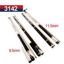 Billiard Pool Cues 9.5mm/11.5mm Tips Pool Billiards Cue Stick Black White Color China 2017