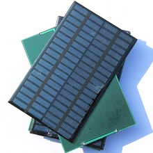 Wholesale 18V 2.5W Polycrystalline Solar Panel Module  Solar Cell DIY Solar System Epoxy Board 10Pcs/lot 194x120MM Free Shipping