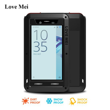 Love Mei Metal Aluminum Case Cover For Sony Xperia X Compact F5321 (4.6 inch) Powerful Armor Shell Water/Shock/Rain Proof Coque