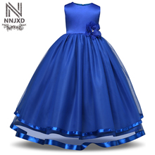 NNJXD Flower Girl Kid Evening Dress Wedding Bridal Gown Tulle Teen Girl Ceremonies Party Dress Children Clothing Girl 8 10 Years