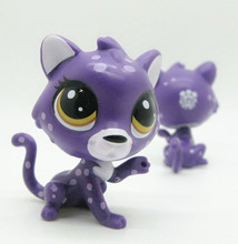 Original LPS quality cute toys Lovely Pet shop animal spotty cat purple action figure littlest doll