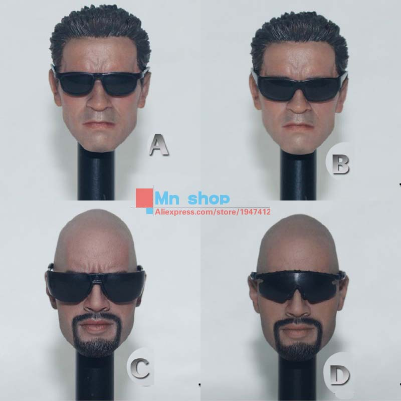 1/6 Hot Toys Sunglasses 4 Style/Set Black Glasses Fit 12 Action Figure Body Accessory P45<br><br>Aliexpress