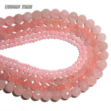 Wholesale AAA+ Faceted Rose Pink Quartz Natural Stone Beads For Jewelry Making DIY Bracelet Necklace 4/ 6/8/10/12 mm Strand 15''