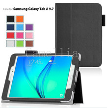 200Pcs/lot For Samsung Galaxy Tab A 9.7,Lightweight SmartCover Stand Case For Samsung Galaxy Tab A SM-T550 9.7-Inch Tablet