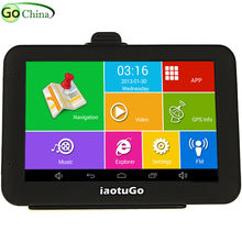 5 inch Capacitive Android GPS Car GPS navigator MTK8127 Quad Core 8G storage 1G ROM WIFI Bluetooth AV-IN Navigation free maps(China)