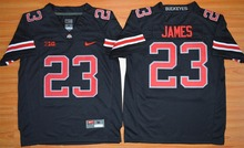 2015 Nike Youth Ohio State Buckeyes Lebron James 23 College Ice Hockey Jerseys - Blackout S M L XL