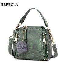REPRCLA Brand Nubuck Leather Shoulder Bag Fashion Hairball Women Messenger Bags Designer Handbags Small Crossbody Women Bags