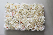 Free Shipping champagne 10pcs/lot Hydrangea rose flower wall wedding backdrop flower decorations home market decoration