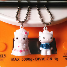 Fashion Evade Glue Cat Design KeyRing Charming Key Ring For Pencil Mobile Phone Bag Pen Bright Metal Key chain Hot  Sell!