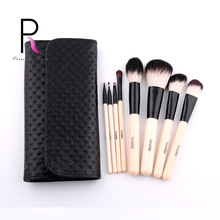 8pcs Cosmetics Makeup Brush Set Make Up Brushes with Leather Makup Bag Pincel Maquiagem Brochas Maquillaje Pinceaux Maquillage