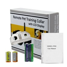 Electronic Dog Collar Remote Control Anti Bark Dog Shock Training Collar With LCD Display 998D Electronic Dog Collar(China)