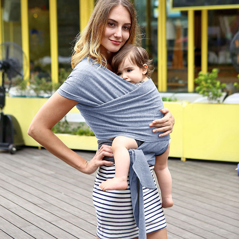 Infants /& Toddlers Baby Wrap Sling Organic Stretchy Carrier Adjustable Breastfeeding Cover for Newborns