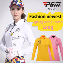 Lady Apparel Shirt Full Length Tshirt Korean Spring Autumn Women's Sportswear Cotton Uniforms Ropa De Golf Clothing Tennis Shirt