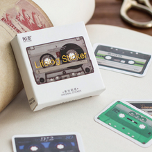 45Pcs/pack Cute Retro Tapes Decorative Stickers Adhesive Stickers DIY Decoration Diary Stickers Box Package