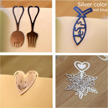 Lovely Cute Gold Metal Silver Snowflake Gift Book Marker Clip Korea Creative School Stationery supply