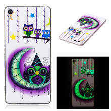 For Sony Xperia XA TPU Flower Jelly Case Butterfly Dream Catcher Luminous TPU Case For Sony Xperia XA
