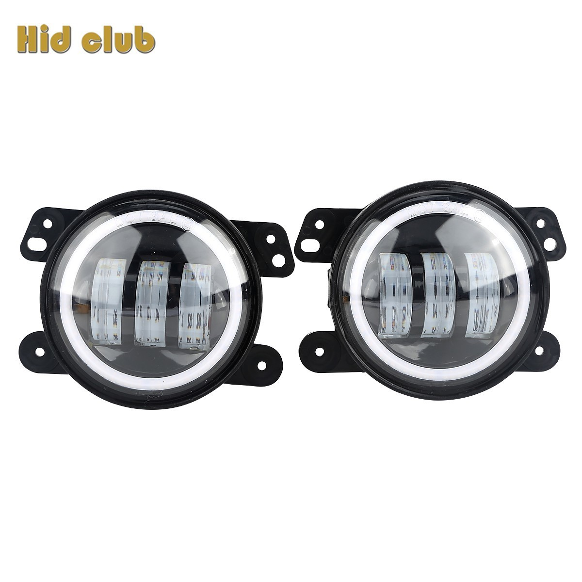 HIDCULB 4Inch 30W Round Fog Light Headlight Projector Lens With Halo DRL Lamp For Offroad Jeep Wrangler JK For Drop Shopping<br>