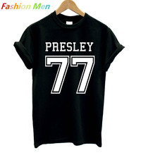 Buy ELVIS PRESLEY 77 Print Men T shirt Fashion Casual Funny Shirt Man White Black Top Tee Harajuku Hipster Street Hip Hop BZ20-5 for $7.92 in AliExpress store