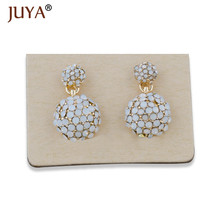 Factory Directly Wholesale hand made Vintage Rhinestone Beads Round Earrings For Women Fashion Accessories Jewellery Gift