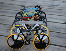 DIY Fixed Gear Bike model Assembled Bicycle model Damping Mountain Bike educational toys home decoration