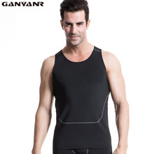 GANYANR Brand Bodybuilding Tank Tops Running Vest Men Fitness Crop Top Tights Sweat Athletic Sports Wear Gym Sleeveless Singlet